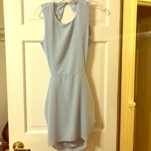 Tobi Light Blue Backless Dress